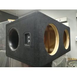 Короб для 2-х сабвуферов 12 дюймов (МДФ, 2 стенка)