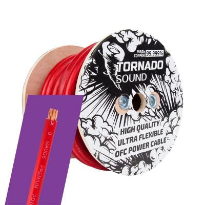 Кабель силовой 0Ga Tornado Sound OFC 015R