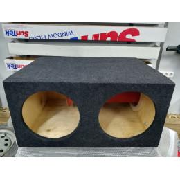 Короб для 2-х сабвуферов 12 дюймов 200мм труба (ФАНЕРА, 1 стенка)