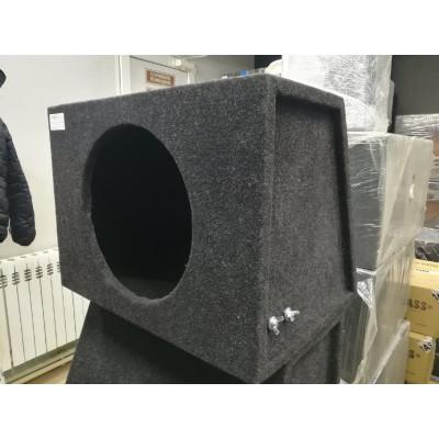 Короб для сабвуфера 12 дюймов закрытый ящик ТРАПЕЦИЯ (ФАНЕРА, 1 стенка)