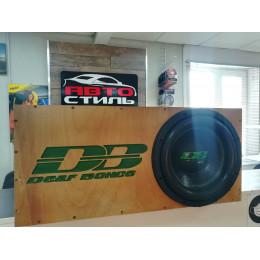 Короб для сабвуфера 12 дюймов труба 160 мм (ФАНЕРА, 1 стенка) DEAF BONCE