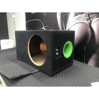 Короб для сабвуфера 12 дюймов труба 110 мм (МДФ, 1 стенка)