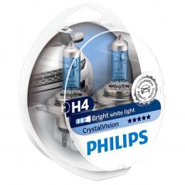 Лампа галогеновая Philips H4 Crystal Vision