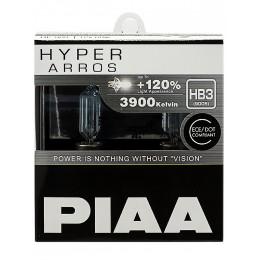 Лампа галогеновая PIAA HYPER ARROS HB3 3900K 12V 55W (100W) - 2 ШТ