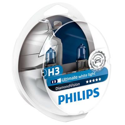Лампа галогеновая Philips H3 Diamond Vision