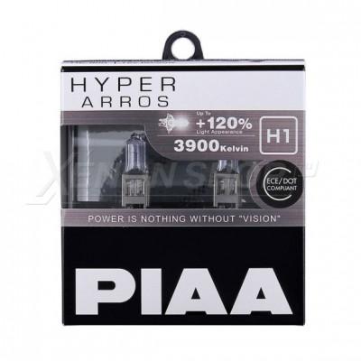 Лампа галогеновая PIAA HYPER ARROS H1 3900K 12V 55W (100W) - 2 ШТ