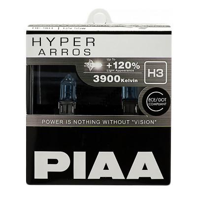 Лампа галогеновая PIAA HYPER ARROS H3 3900K 12V 55W (100W) - 2 ШТ